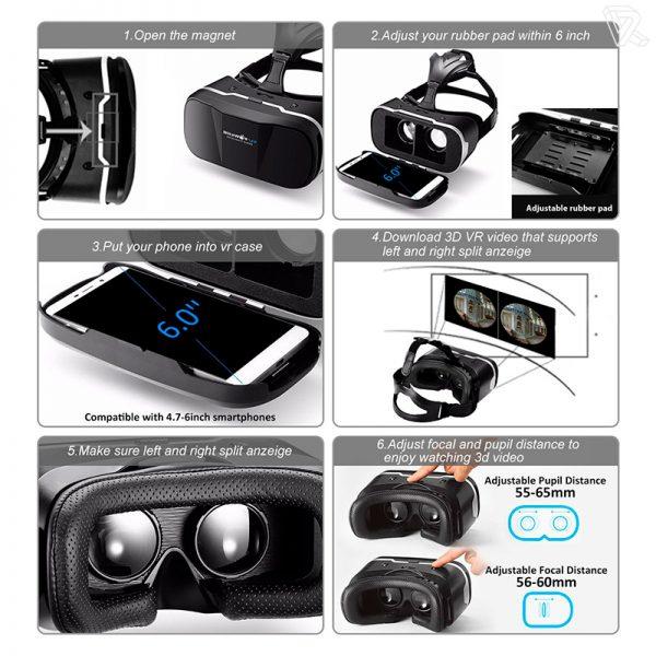 BlitzWolf VR Gafas de Realidad Virtual para Smartphone