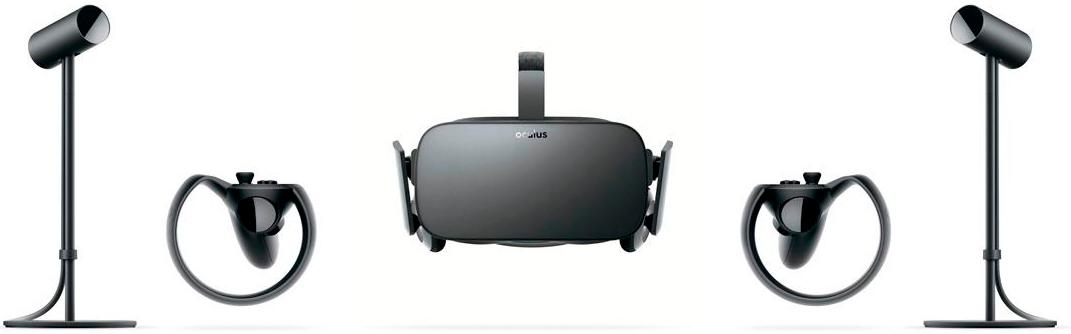 Contenido del Pack 2 Touch Controllers 2 Sensores de Oculus Rift