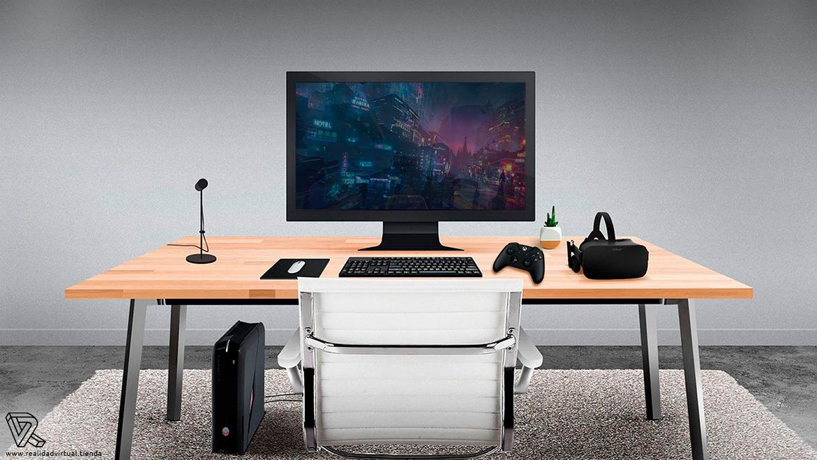 Escritorio con las Gafas de Realidad Virtual Oculus Rift Mando Xbox One Sensor Control remoto