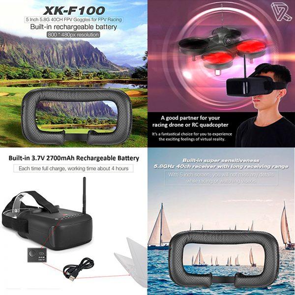 Gafas XK-F100 FPV para control de Drones