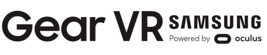 Samsung GEAR VR powered by oculus logotipo