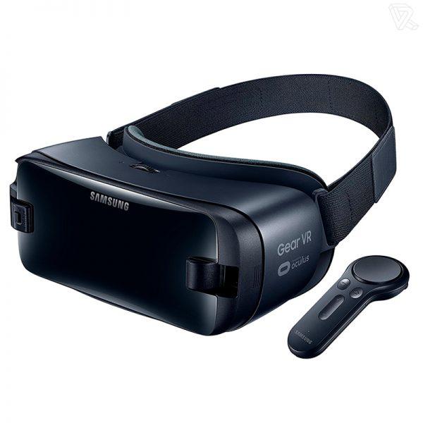 Samsung Gear VR Gafas de realidad virtual negras con controlador