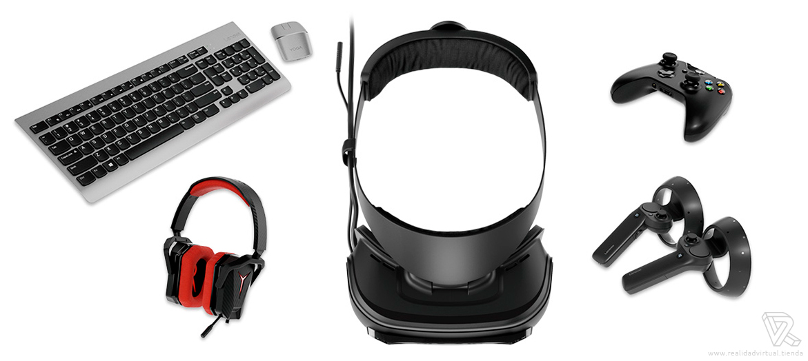 equipo completo Gafas de Realidad Mixta Lenovo Explorer Windows Mixed Reality