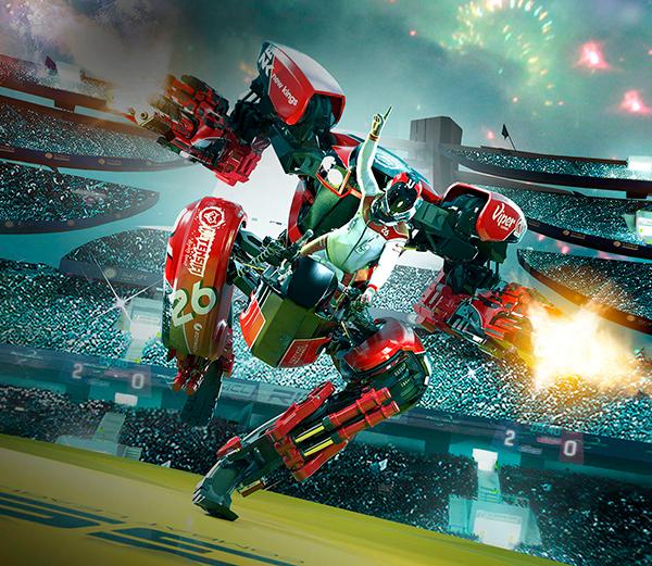 Juego de robots armados genero shooter vr
