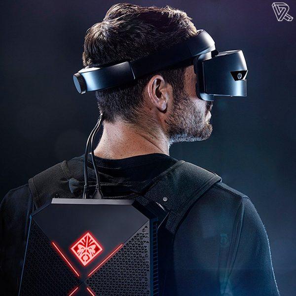 mochila de realidad virtual portatil HP VR1000