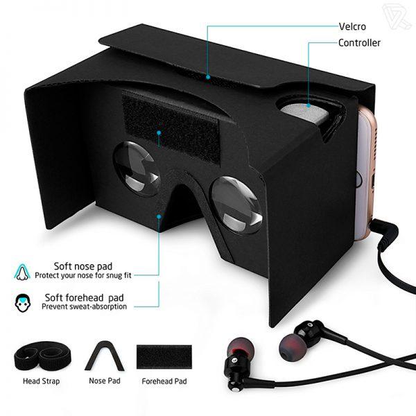 Gafas de realidad virtual Google Cardboard negras