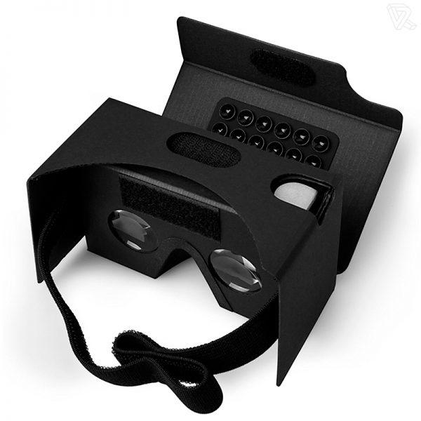 Gafas de realidad virtual Google Cardboard negras Calidad Premium