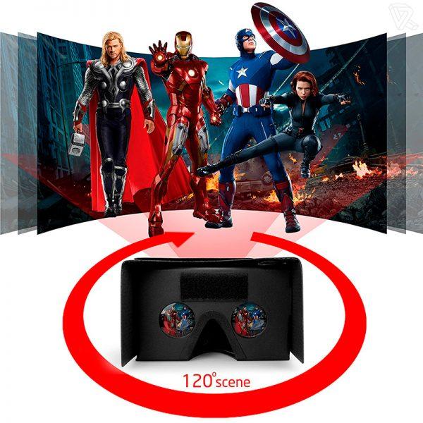 Gafas de realidad virtual carton Cardboard negras Calidad Premium
