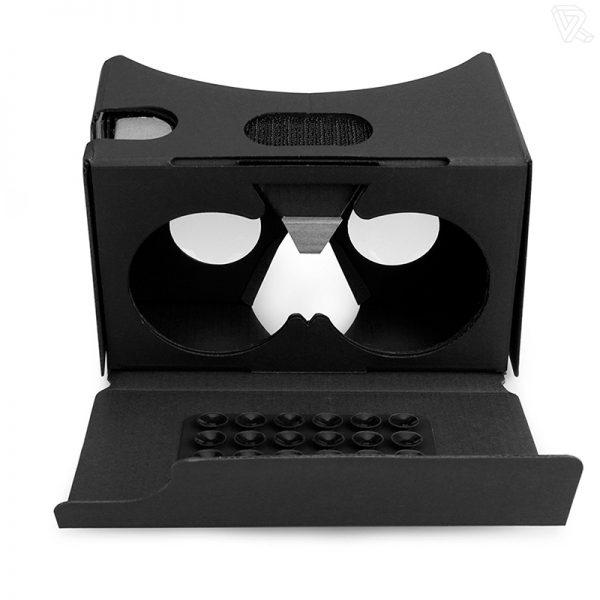 Gafas de realidad virtual de carton Cardboard negras Calidad Premium