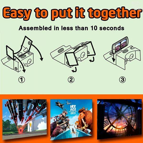 Gafas de realidad virtual de carton Premium
