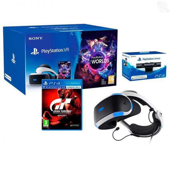 Sony PlayStation VR GT Sport Pack Gafas de Realidad Virtual+ VR Worlds Camara VR