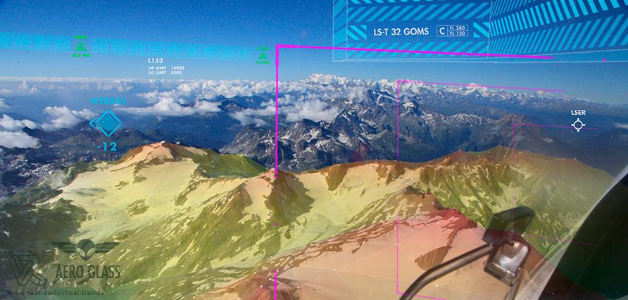 Aero Glass navegacion aerea Gafas de Realidad virtual aumentada para Pilotos