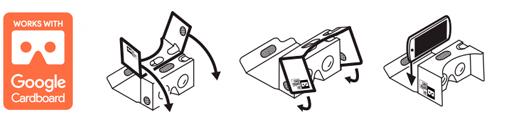 google cardboard logotipo gafas VR de carton