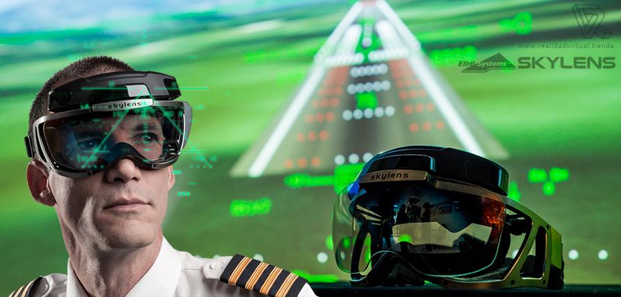 Skylens Fly AR Visor de realidad aumentada para Aviación y navegacion aerea