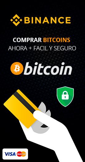 Comprar Bitcoins con tarjeta de credito en Binance