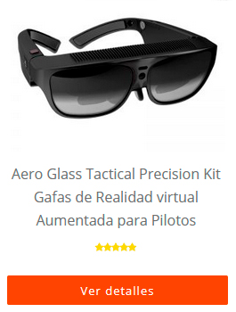 Aero Glass Tactical Precision Kit Gafas de Realidad virtual Aumentada para Pilotos